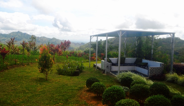 Garden  overlooking the rest of mountainous Leon.