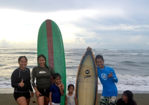 Surfing with the Lozanos