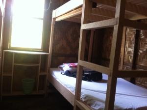 bunk beds at Lanuza Surf Camp